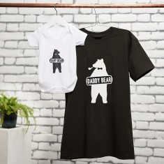 Daddy Bear, Baby Bear T Shirt And Baby Suit Set