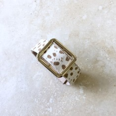 Classic Cuff Bracelet In Almond Cheetah