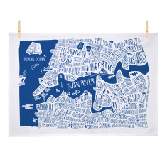 Perth 'burbs tea towel