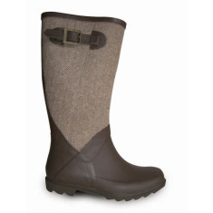 Noisette tweed chocolate brown wellies