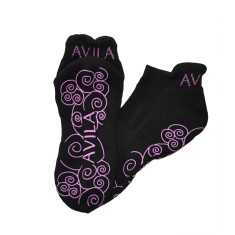 Non-slip pilates & yoga socks in purple
