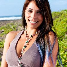 I love chakras' crystal heart chakra necklace
