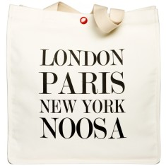 London Paris New York Noosa tote