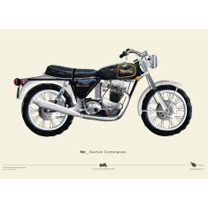 Norton commando motorcycle poster