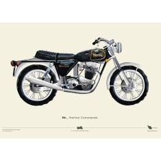 Norton commando motorcycle poster