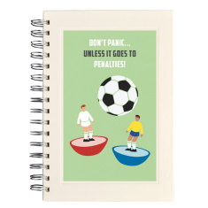Personalised football notebook