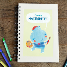 Personalised hippo kids' sketch book