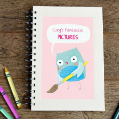 Personalised owl kids' sketch book