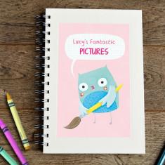 Personalised owl kids' sketch book