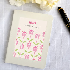Personalised tulips notebook