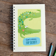 Personalised boys' crocodile notebook