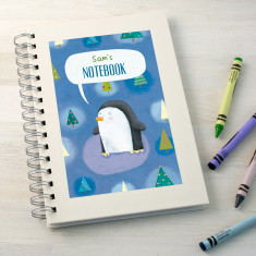 Personalised kids' Christmas notebook