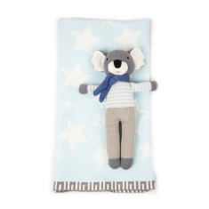 Weegoamigo King Koala Knitted Toy & Blanket