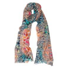 Mini puzzle pastels scarf