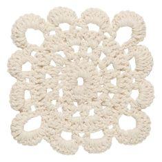 Crochet Coasters Natural (set of 4)