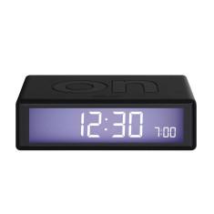Black Flip LCD alarm clock