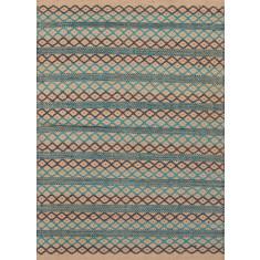 Multi handmade flat weave jute rug