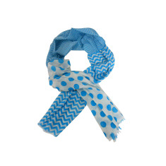Soft cotton turquoise scarf