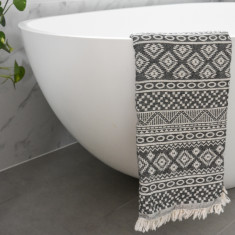 Caribbean Turkish Towel in Charcoal