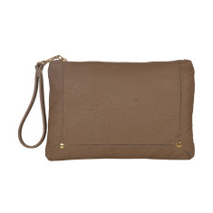 Amy Taupe Clutch Bag