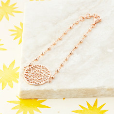 Mandala Bracelet In Rose Gold Plate