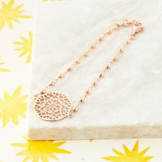 Mandala Bracelet In Rose Gold Plate