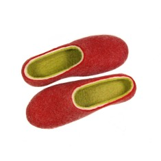 Womens Felted Slippers Tulips
