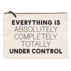 Under Control XL Canvas Pouch