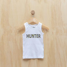 personalised wild animal print singlet in yellow or pink