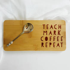 Teach Mark Coffee Repeat Teacher Coaster