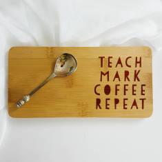 Teach Mark Coffee Repeat Teacher Coaster