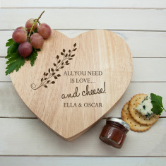 All You Need is Love Heart Cheese Board
