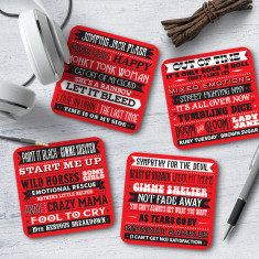 Rolling Stones Song Titles Coasters (Set of 4)