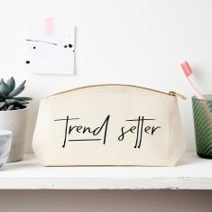 Trend Setter Slogan Pouch