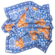 Patchwork Tile Silk Scarf