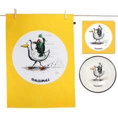 Quackamole plate, tea towel & card gift pack