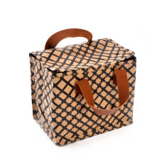 Insulated lunch box bag in grid