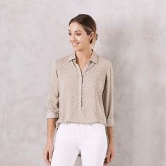 Polka Dot Shirt in Almond