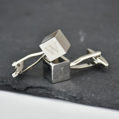 Monogram Personalised Cube Cufflinks