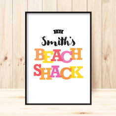 Beach shack custom print (more colours)