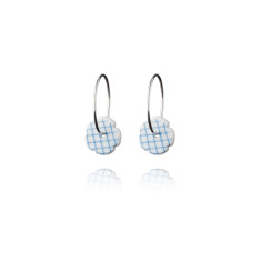 Stripes hoop earrings by Anne Black