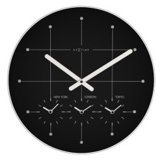 Big City Clock 43cm - frosted glass