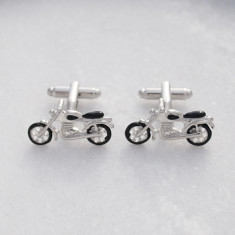 Motorbike stainless steel cufflinks