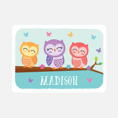 Personalised Owl Placemat