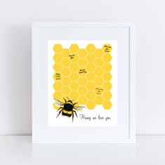 Bumble bee personalised signature guest book