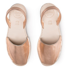 Alohas Rose Gold Leather Sandal