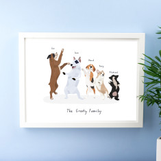 Personalised Dog Family Print