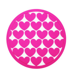 Coasters with pink hearts