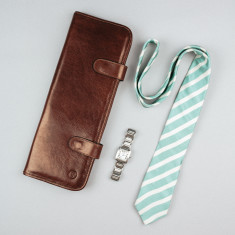The Tivoli Leather Tie Case For Men
