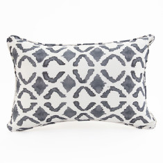 Maasai Lines cushion in Storm Blue